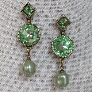 Heidi Daus Essential Sparkle Earring in Green